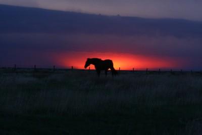 Stormy Texas Sunset