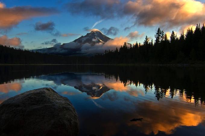 TrilliumSunrise by johnmerrell - Lakes And Reflections Photo Contest