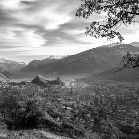 View of the City of Sion / Switzerland (Valais)