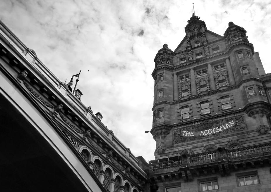 The Scotsman Hotel and North Bridge, Edinburgh.