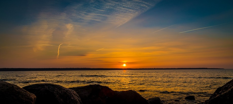 Simple, but I think beautiful sunset at a place called Kakumäe. Especially, that we should hav...