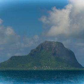 This is a shot of Le Morne on the Island of Mauritius, Indian Ocean