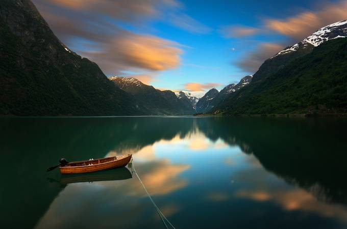 On the way to Briksdalsbreen... by kbrowko - Ships And Boats Photo Contest