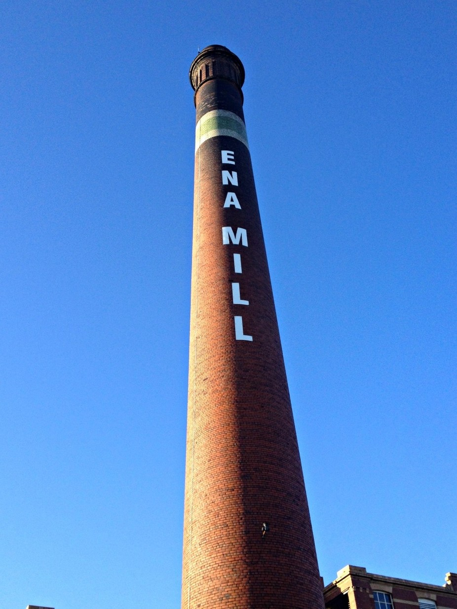 Atherton, lancashire, one of the few remaining mills in the area, many are being demolished but this amazing chimney can be seen from quite a long way away.