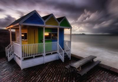 Coloured Huts At Sunrise 5