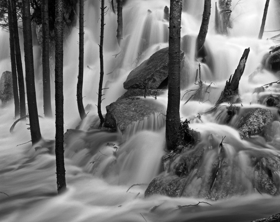 By my home when I was in Nova Scotia. Scanned from a Pentax 6x7 negative. The stream next to the ...