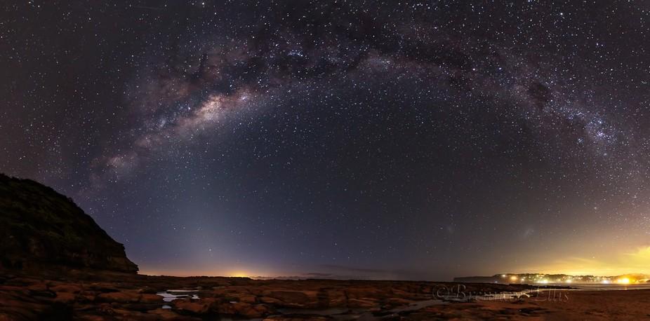 Nth Avoca Milky Way Pano 280215