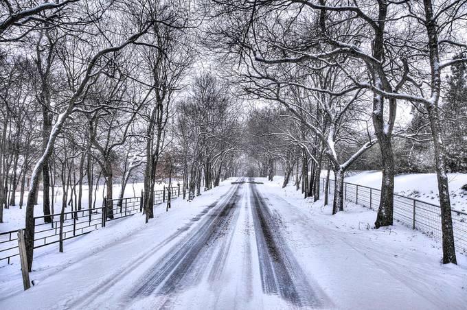 Winter Road by jamesnelms - Winter Roads Photo Contest
