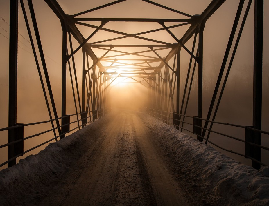 I revisited this location yesterday for early morning sunrise at Andrewsville Bridge. Heavy mist ...