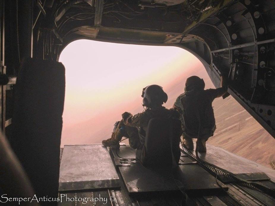Flight between FOB Tobruk and Farah, Western Afghanistan; lots of bobbing and weaving as fast as ...