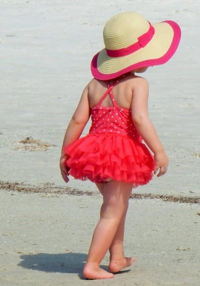 little lady on the beach