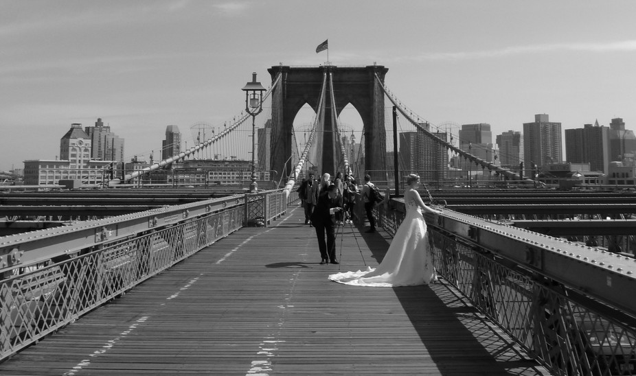 It was warm spring day and I walked down the Brooklyn Bridge when I saw her. She looked like a wh...