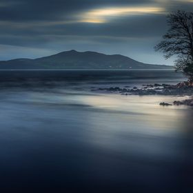 A rough and mysterious Lough Swilly in Buncrana Co. Donegal Ireland.
