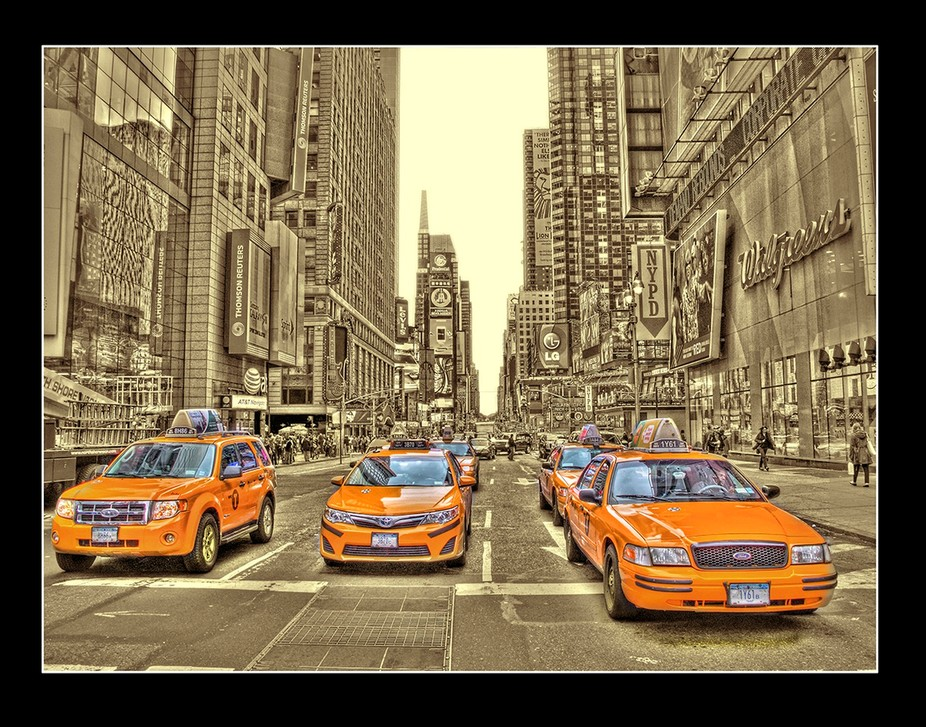 New York Time Square cabs