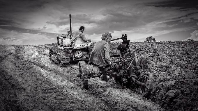 Ploughing Old Style  by colinroberts - Farming Photo Contest