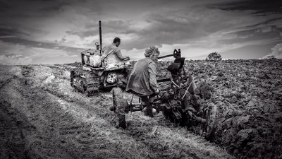 Ploughing Old Style