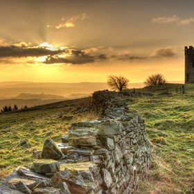 Sunrise at the Folly in Pontypool, South Wales, UK
