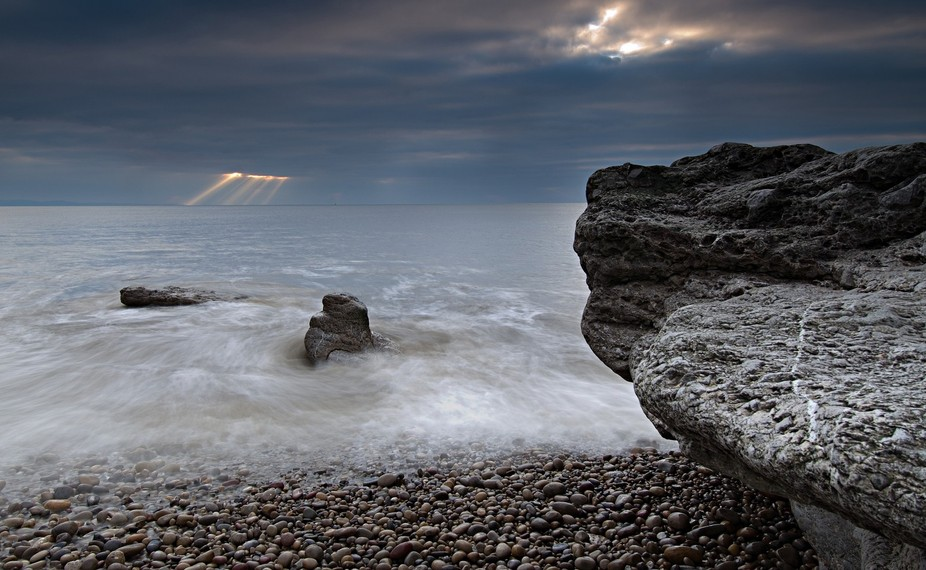 Sun rays over Ogmore by Sea