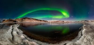 Aurora moonlight