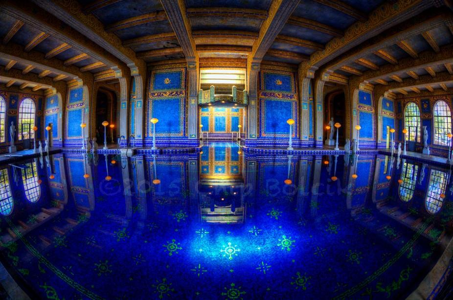 The indoor pool at La Casa Grande in central California.