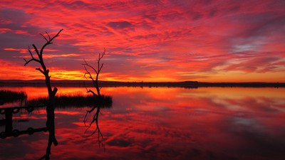 Sunrise at Lake Wyangan, Griffith, Australia