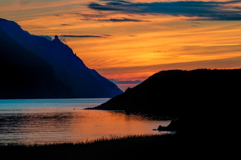 A sunset on beautiful Bonne Bay in Gros Morne National Park, Newfoundland