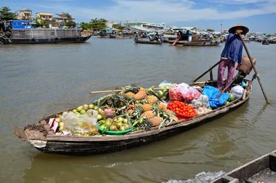 The Floating market of Cai Rang