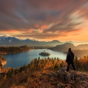 The photo was taken at Lake Bled during the January trip. This is probably the best place to take pictures of lake bled. It was taken just after ...