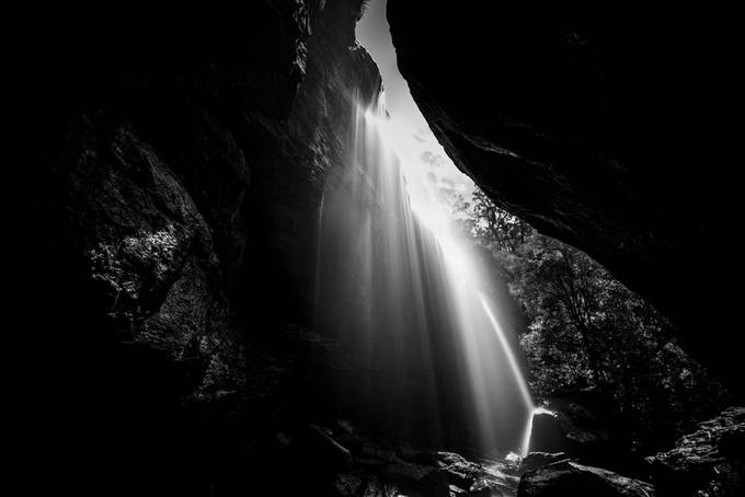 40 foot falls boxvale by Hamo - Black And White Compositions Photo Contest
