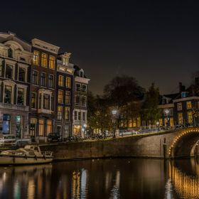 Nightscape in Amsterdam. November 2014.