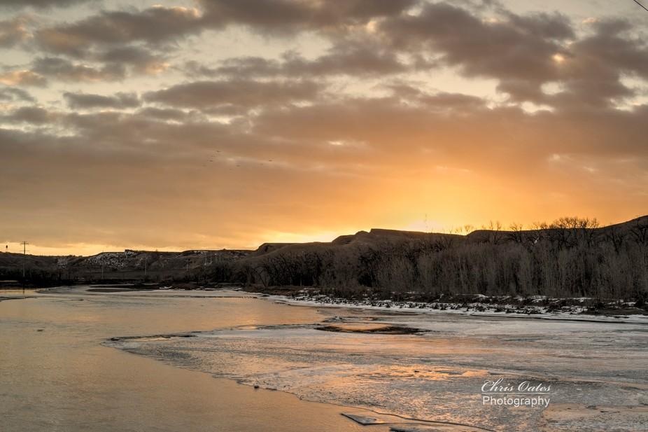 Sundown Oldman River -Jan20_2015