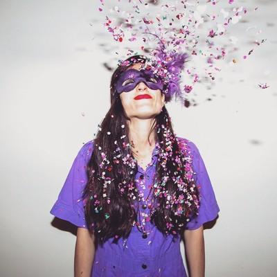 Confetti in Hair