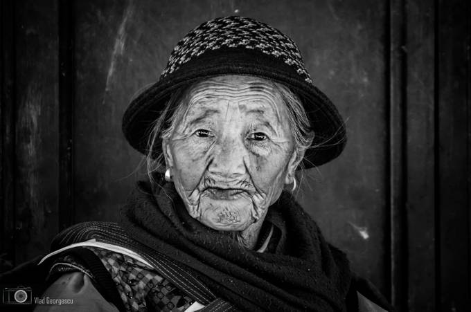 B&W portrait of old Chinese woman by vladgphoto - Cultures of the World Photo Contest