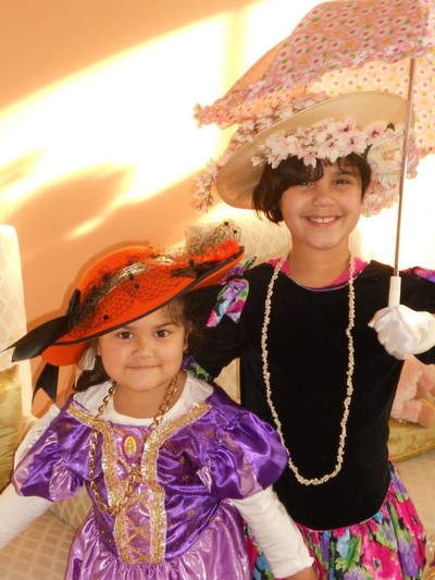 Cousins Playing Dress up
