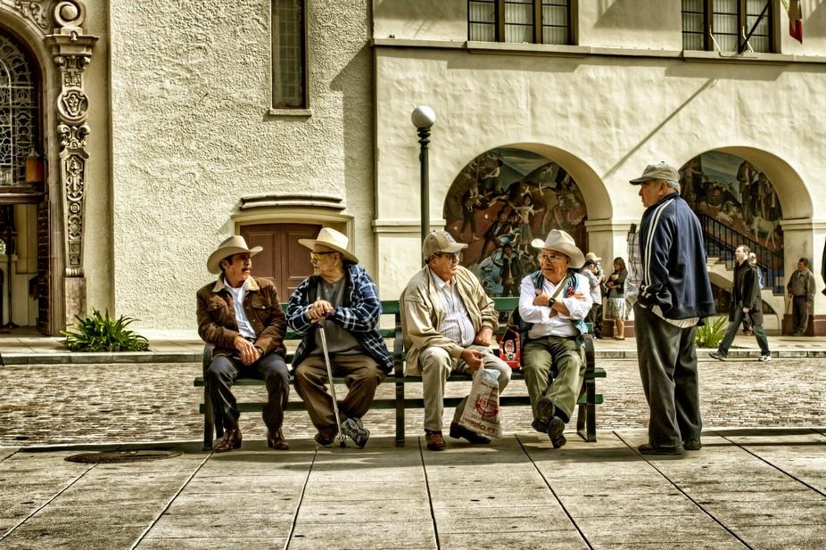 Old Men Telling Tales