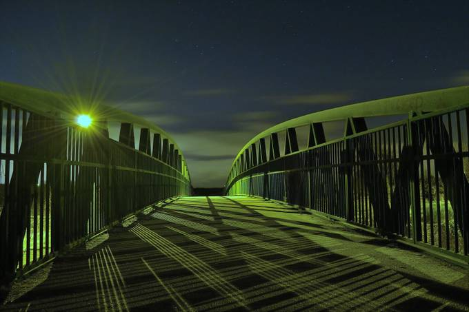 Bridge in winter by jld83photography - Rails and Fences Photo Contest
