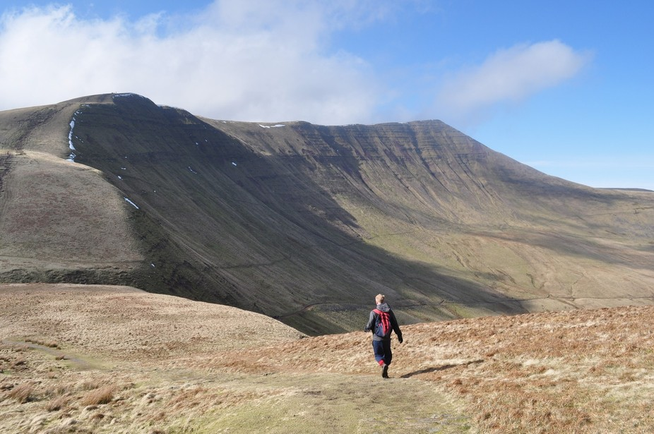 A windy day on the Brecon Beacons in Wales, UK.