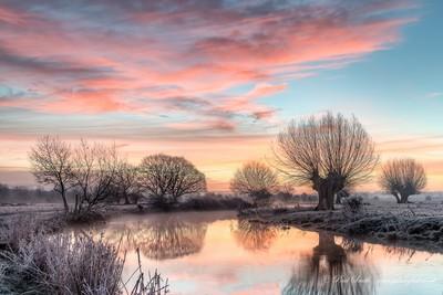 Frosty Dedham at Dawn