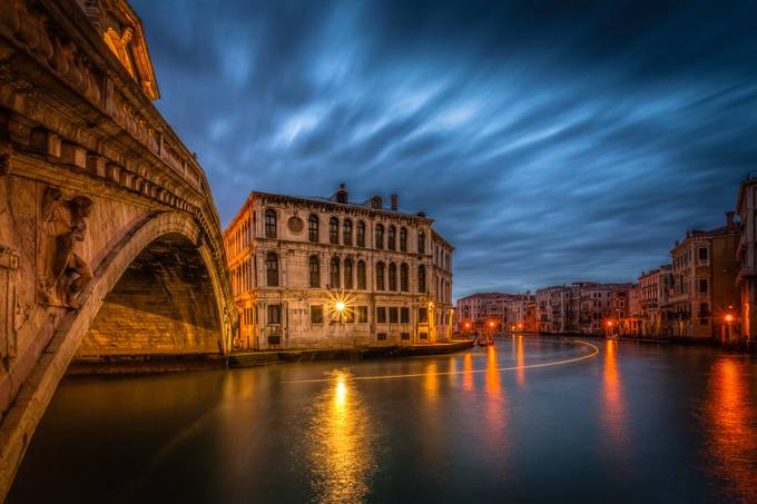 Rialto by MargaretN - City In The Night Photo Contest