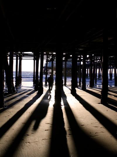 Dawn Burns_Santa Monica Pier at Low Tide