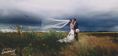 Stormy wedding day