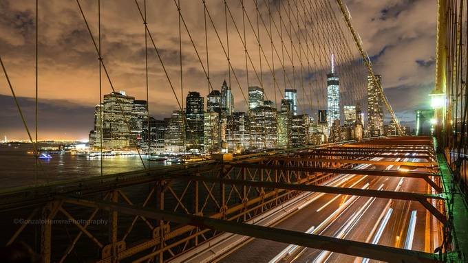 Lower Manhattan From The Brooklyn Bridge by GonzaloHerreraPhotography - New York Photo Contest