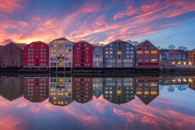 Nidelven Sunset by KnutAageDahl - Light On Water Photo Contest