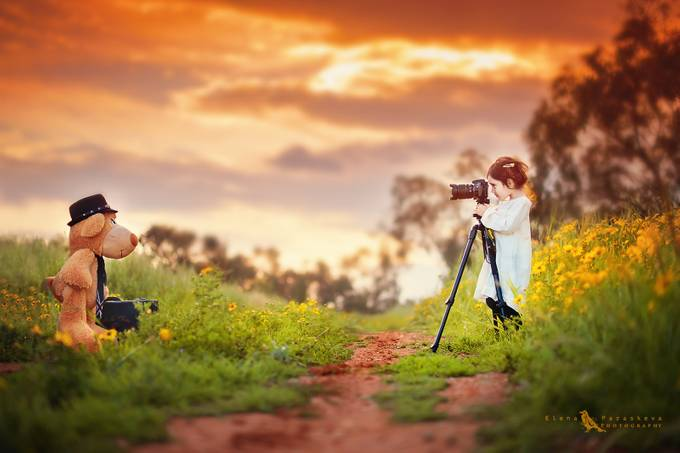 Photographer In The Making by ElenaParaskeva - Kids With Props Photo Contest