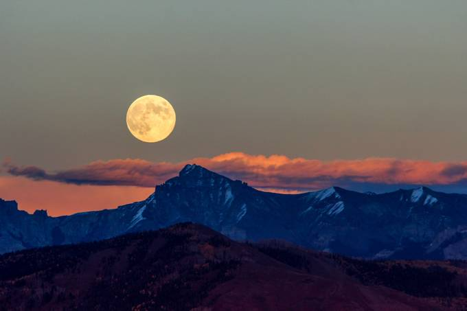 Harvest Moon Over Dallas Divide 2012, revisited by nsyyoung - The Moonlight Photo Contest