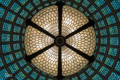 Up at the Tiffany dome