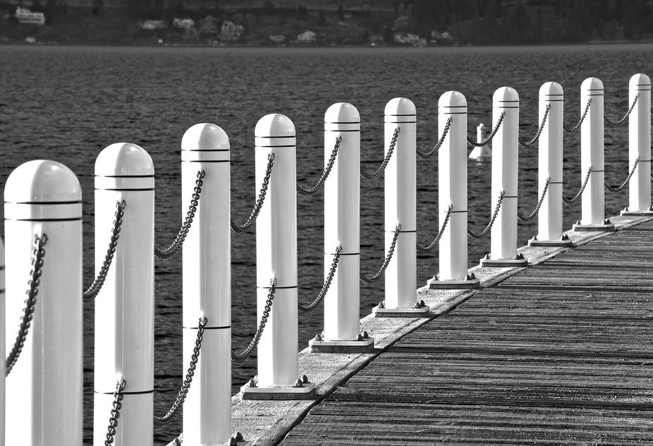 Guard Rail along Boardwalk in City Park