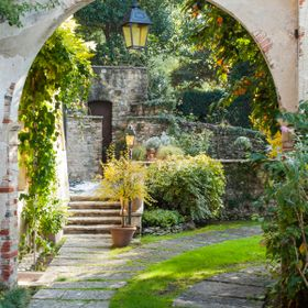 Beautiful garden in Asolo Italy