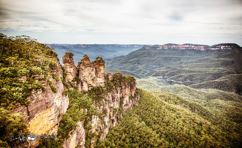 The Three Sisters is a rock formation in the Blue Mountains of New South Wales, Australia, on the...