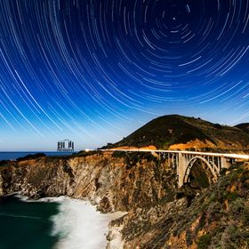 Timing clear skies and a full moon can be hard, but I manged to snag this star trail over the Bixby Bridge in Big Sur on my last road trip.
